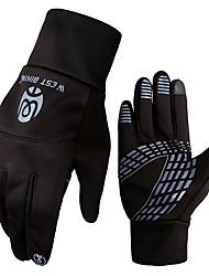 Недорогие -West biking Спортивные перчатки Зимние Перчатки для велосипедистов Перчатки для сенсорного экрана Сохраняет тепло Водонепроницаемость С