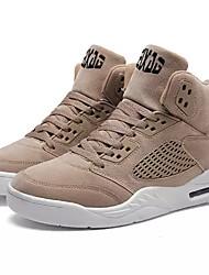 cheap -Men's Shoes Fleece Spring Fall Light Soles Sneakers For Casual Khaki Gray Black White