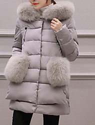 Women's Long Padded Coat,Cute Casual Daily Plus Size Solid-Cotton Polypropylene Long Sleeves Hooded