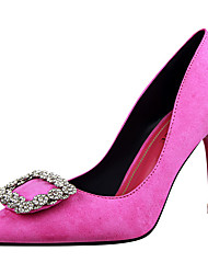 cheap -Women's Shoes Fur Spring Fall Gladiator Basic Pump Heels Stiletto Heel Pointed Toe Rhinestone for Dress Party & Evening Black Gray Light