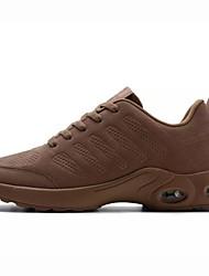 Недорогие -Для мужчин обувь Полиуретан Весна Осень Удобная обувь Спортивная обувь Для прогулок Назначение Атлетический Черный Серый Коричневый Хаки