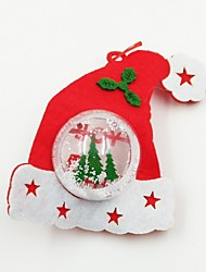 cheap -Hat Plastic Ball Non-Woven Fabric Christmas Ornament