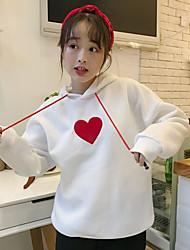 Women's To-Go Hoodie Solid Hooded Micro-elastic Cotton Polyester Long Sleeves Cross-Seasons