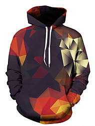 cheap -Men's Daily Going out Casual Sexy Chinoiserie Hoodie Print Color Block Hooded Micro-elastic Cotton Long Sleeves Winter Fall