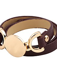 cheap -Women's Wrap Bracelet Casual Korean Leather Circle Jewelry For Party Daily