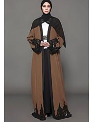 Balançoire Robe Femme Décontracté / Quotidien Imprimé Col en V Maxi Manches Longues 100 % Polyester Automne Taille Normale Micro-élastique