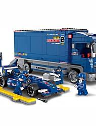 Blocos de Construir Ônibus Brinquedos Veículos Peças