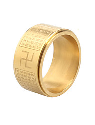 cheap -Men's Band Ring - Titanium Steel Statement, Vintage, Rock 8 / 9 / 10 Gold / Silver For Daily / Casual