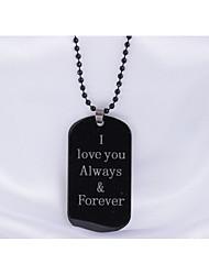 Недорогие -Муж. Ожерелья с подвесками - Нержавеющая сталь Ожерелье Назначение Повседневные