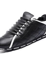 Homme Chaussures Polyuréthane Automne Hiver Confort Chaussures d'Athlétisme Course à Pied Pour Athlétique Noir Bleu