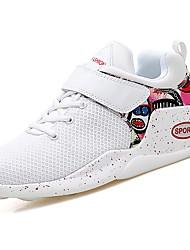 abordables -Femme Chaussures Gomme Printemps / Automne Confort Chaussures d'Athlétisme Basketball Talon Plat Bout rond Bottine / Demi Botte Ruban