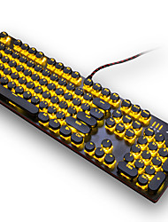 economico -ajazz meccanico uomini lol gioco retroilluminazione via cavo punk tastiera meccanica asse nero 104 chiave