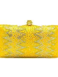 Ženy Tašky Celoroční Polyester Večerní kabelka Křišťály pro Svatební Večírek Vodní modrá Trávová zelená Žlutá