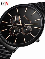 Hombre Mujer Reloj Casual Reloj de Moda Reloj de Pulsera Chino Cuarzo Reloj Casual Acero Inoxidable Banda Casual Elegant Negro Plata Oro