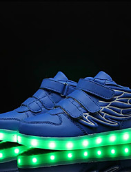 Boys' Shoes PU Summer Fall Comfort Novelty Light Up Shoes Sneakers Walking Shoes Lace-up Hook & Loop LED For Athletic Casual Outdoor