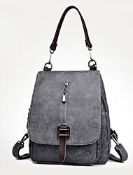 preiswerte -Damen Taschen PU Rucksack Reißverschluss für Normal Draussen Ganzjährig Blau Schwarz Rote Grau Braun