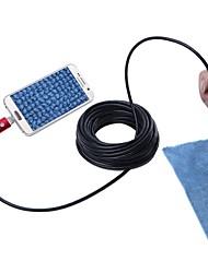 abordables -2 en 1 usb endoscope caméra ip67 étanche inspection endoscope serpent caméra pour windows android 7mm lentille 10 m longueur rouge