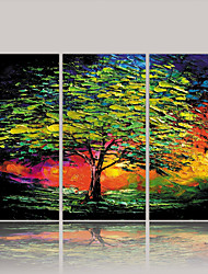 cheap -Rolled Canvas Prints Comtemporary Classic Rustic Modern, Three Panels Canvas Vertical Print Wall Decor Home Decoration