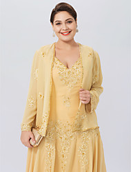 cheap -Long Sleeves Chiffon Wedding Party / Evening Women's Wrap With Beading Appliques Lace Coats / Jackets