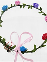 cheap -Halloween Accessories Headgear Toys Round Flower Shape Floral & Botanicals Lighting Birthday Fashion Adults' Pieces