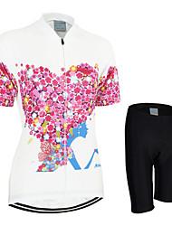 economico -Arsuxeo Per donna Manica corta Maglia con pantaloncini da ciclismo - Rosso Bicicletta Pantaloncini /Cosciali Maglietta/Maglia Set di