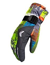 cheap -Winter Gloves Men's Women's Full-finger Gloves Keep Warm Waterproof Rain-Proof Printable Polyester Skiing Ski / Snowboard Winter