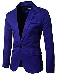 abordables -Hombre Vintage Blazer Delgado Un Color