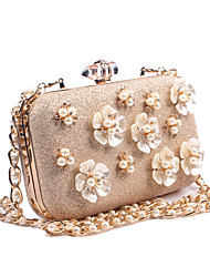 cheap -Women's Bags leatherette Evening Bag Appliques / Buttons / Pearls Gold