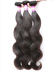 cheap -Indian Wavy Human Hair Weaves 3pcs Hot Sale 0.3