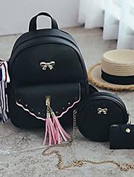 baratos -Mulheres Bolsas PU Conjuntos de saco Ziper Rosa / Bege / Cinzento