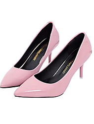 cheap -Women's Shoes Real Leather PU Spring Fall Basic Pump Heels Stiletto Heel For Casual Blushing Pink Red Black White