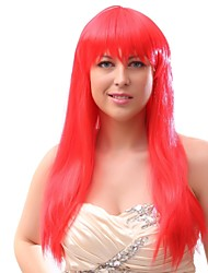 cheap -Women Synthetic Wig Capless Long Red Party Wig Halloween Wig Cosplay Wig Costume Wig