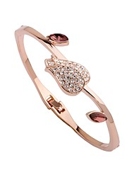 cheap -Women's Bangles / Cuff Bracelet - Gold Plated Flower Fashion, Elegant Bracelet Rose Gold For Gift / Daily