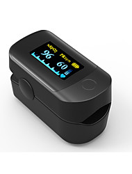 Accurate FS20D OLED Fingertip Pulse Oximeter Oximetry Blood Oxygen Saturation Monitor with batteries