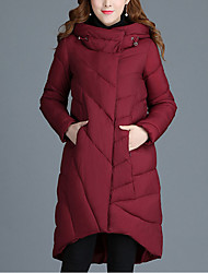 Women's Regular Padded Coat,Sophisticated Going out Solid-Polyester Long Sleeve