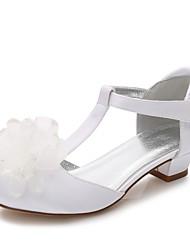 economico -Da ragazza Scarpe Seta Primavera Autunno Comoda Ballerina Cinturino alla caviglia Scarpe da cerimonia per bambine Tacchi Piccoli per