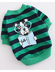 犬 スウェットシャツ 犬用ウェア カジュアル/普段着 ストラップ柄 レッド グリーン コスチューム ペット用