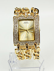 cheap -Women's Fashion Watch / Bracelet Watch Japanese Casual Watch Alloy Band Sparkle Gold / Two Years / Sony SR626SW