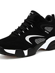 Недорогие -Для мужчин обувь Нубук Удобная обувь Для баскетбола для Повседневные Черный Красный Синий