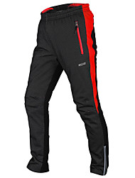 Arsuxeo Cycling Pants Bike Bottoms Men's Reflective Strip Windproof Anatomic Design Polyester Elastane TPU Cycling/Bike Trail Autumn/Fall