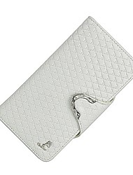 cheap -Women's Bags Cowhide Wallet Buttons Pattern / Print for Shopping Casual All Seasons White