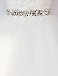 cheap -Satin/ Tulle Wedding Special Occasion Sash With Rhinestone Women's Sashes