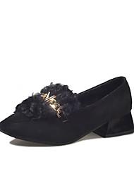 Femme Chaussures Daim Hiver Confort Mocassins et Chaussons+D6148 Bout rond Pour Décontracté Noir Marron Kaki