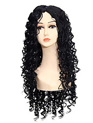 cheap -Women Synthetic Wig Capless Long Curly Kinky Curly Afro Black Party Wig Halloween Wig Natural Wigs Costume Wig