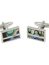 cheap -Rectangle Silver Cufflinks Fashion Men's Costume Jewelry For Gift / Work
