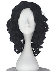cheap -Synthetic Wig Curly Black Women's Capless Carnival Wig Halloween Wig Party Wig Lolita Wig Natural Wigs Cosplay Wig Short Synthetic Hair