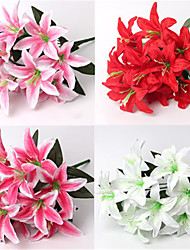 cheap -40cm 2 Pcs 10 Head/branch Perfume Little lily Home Decoration Artificial Flowers