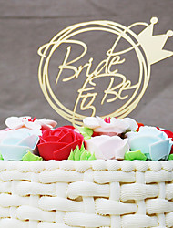 cheap -Cake Topper Wedding Acrylic Bridal Plastic Wedding with 1 OPP