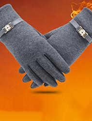 Недорогие -Жен. Зимние перчатки / Сохраняет тепло / Защита от ветра До запястья С пальцами Перчатки Однотонный / Зима