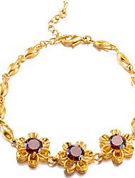 Naisten Rannerenkaat Rannekkeet Kukka-aihe Aasialainen Lahja Lovely Muoti Gold Plated Korut Käyttötarkoitus Häät Päivittäin